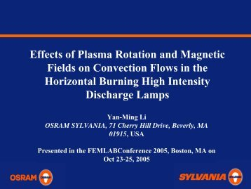 Effects of Plasma Rotation and Magnetic Fields on ... - COMSOL.com
