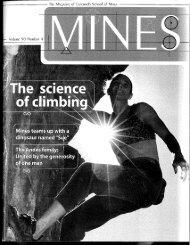Mines Magazine - Colorado School of Mines