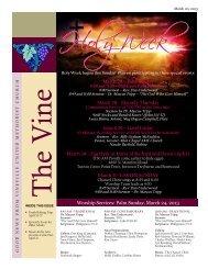 The Vine, March 20, 2013 - Vineville United Methodist Church