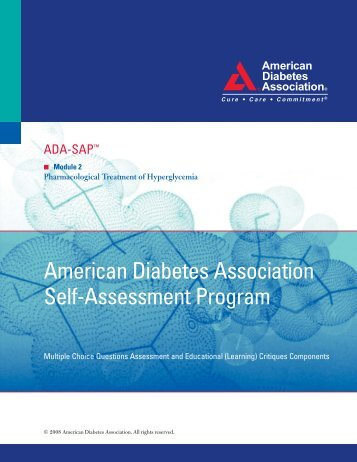 American Diabetes Association Self-Assessment Program