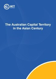 The Australian Capital Territory in the Asian ... - ACT Government