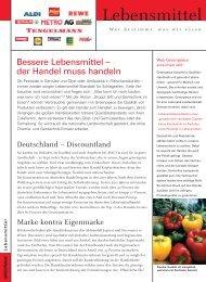 Lebensmittel - Greenpeace-Gruppe Stuttgart
