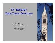 UC Berkeley Data Center Overview