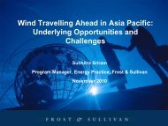 Wind Travelling Ahead in Asia Pacific