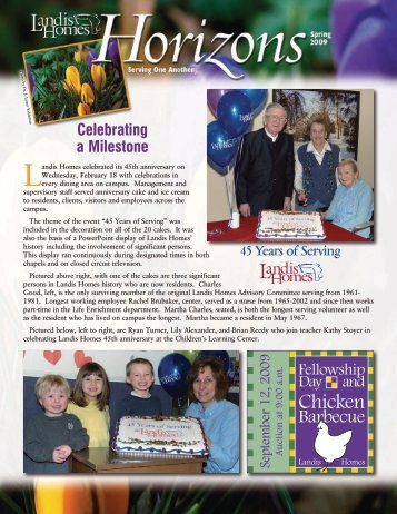 2009 Spring Horizons Newsletter - Landis Homes