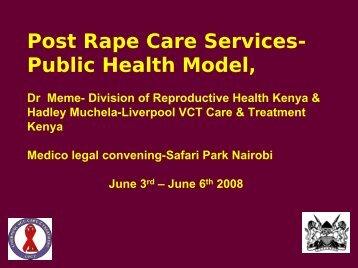 Post Rape Care Services-Public Health Model - Sexual Violence ...