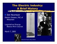 The Electric Industry: A Brief History - Wisconsin Public Utility Institute