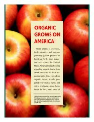 ORGANIC GROWS ON AMERICA! - Agriculture in the Classroom