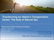 The Role of Natural Gas - Wisconsin Public Utility Institute
