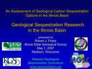 Geological Sequestration Research in the Illinois Basin - Wisconsin ...