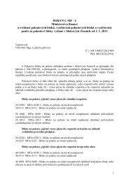 Pokyn č. MF - 2 - Celní správa České republiky