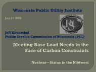 Nuclear-Status in the Midwest - Wisconsin Public Utility Institute