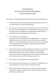 Geschäftsordnung - Landeszentrale für politische Bildung Schleswig ...