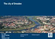 The city of Dresden - B-Team Initiative