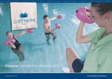 Kursplan September bis November 2012 - GraftTherme