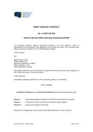 13.R&T.OP.639 Draft Contract - European Defence Agency - Europa