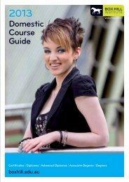 Domestic Course Guide - Box Hill Institute of TAFE