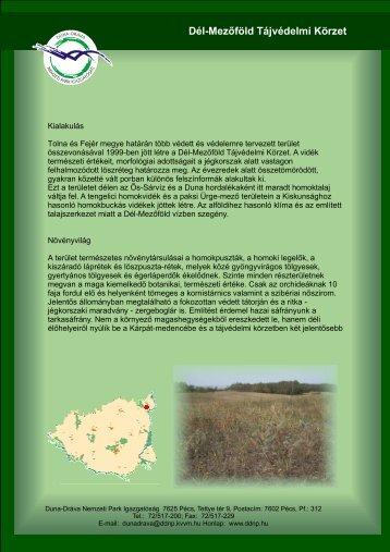 Dél-Mezőföld Tájvédelmi Körzet - Duna-Dráva Nemzeti Park