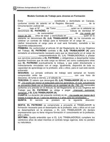 Modelo de contrato de trabajo por obra tattoo design bild for Contrato trabajo