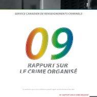 Rapport sur le - Service canadien de renseignements criminels