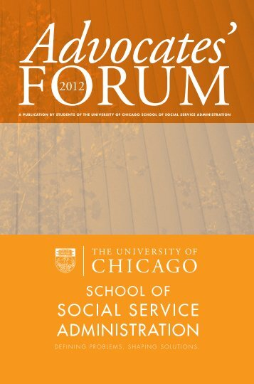 DEFINING PROBLEMS. SHAPING SOLUTIONS . - School of Social Service ...
