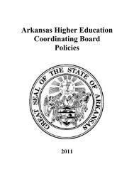 Arkansas Higher Education Coordinating Board Policies
