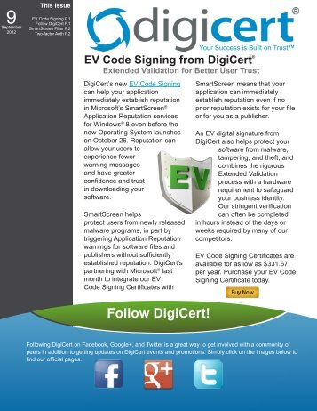 DigiCert EV Code Signing Certificates