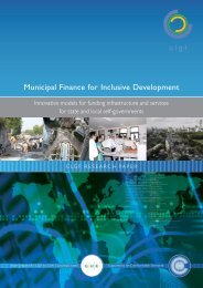Municipal Finance for Inclusive Development - DeLoG