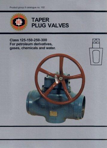 taper plug valves