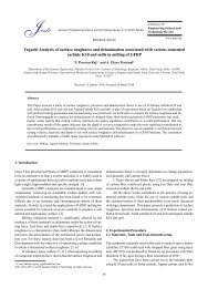 Taguchi Analysis of surface roughness and ... - ResearchGate
