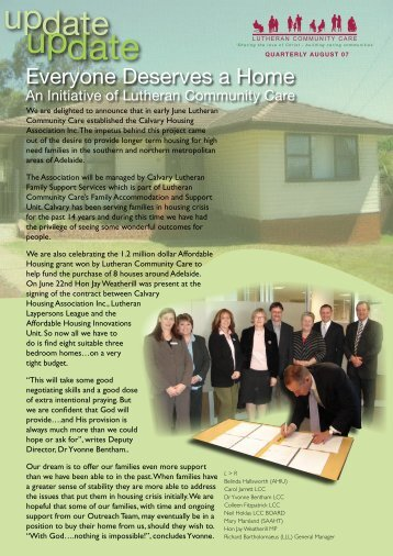 August 2007 Update - Lutheran Community Care