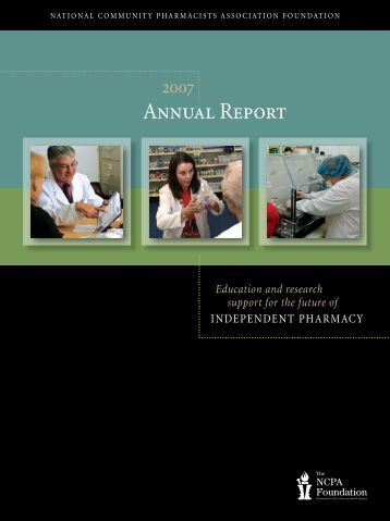 2007 Annual Report - The NCPA Foundation
