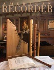 m a r c h 2 0 0 5 - American Recorder Society