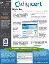 DigiCert Unveils New Site Based on Customer Feedback