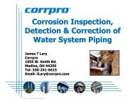 Corrosion Detection, Inspection & Correction of ... - Ohiowater.org