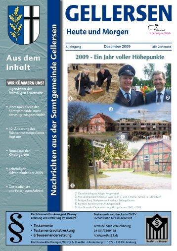 Mitteilungsblatt 12/2009 - Samtgemeinde Gellersen