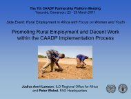 Youth Promoting Rural Employment and Decent Work ... - CAADP