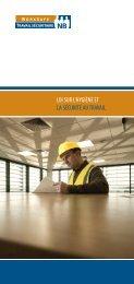 Loi sur l'hygiène et la sécurité au - Travail sécuritaire NB