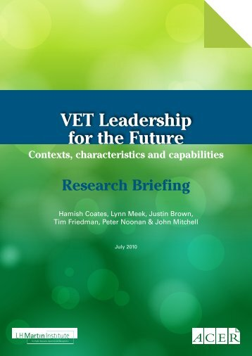 Research briefing - LH Martin Institute