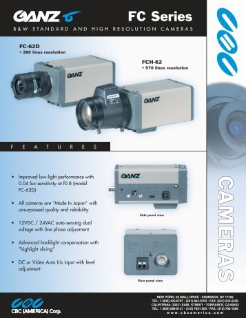download ganz fc-62d brochure - Go Electronic