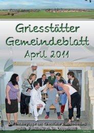 Die Theatergruppe des Griesstätter Trachtenvereins spielt ...
