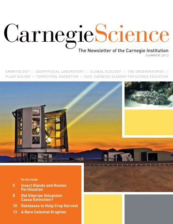 The Newsletter of the Carnegie Institution - Carnegie Institution for ...
