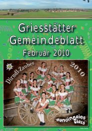 Gemeindeblatt Februar 2010 - Griesstätt