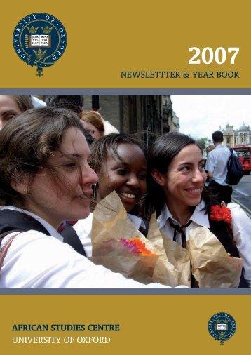 African Studies Newsletter 2007 - African Studies Centre - University ...