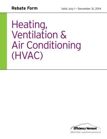 Heating, Ventilation & Air Conditioning (HVAC) - Efficiency Vermont