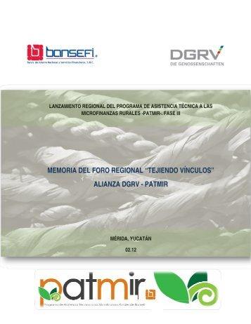 Reseña del Evento Regional en Yucatán. DGRV - Bansefi