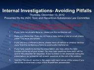 INTERNAL INVESTIGATIONS AVOIDING PITFALLS