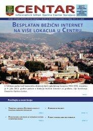 besplatan beżićni internet na viśe lokacija u centru - Općina Centar