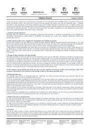 PRIVACY POLICY Version 10/2012 - HARKE Group