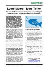 Flugblatt, Bio-Fisch_12-05 - Greenpeace-Gruppe Stuttgart